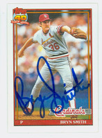 Bryn Smith AUTOGRAPH 1991 Topps Cardinals 