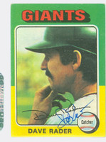 Dave Rader AUTOGRAPH 1975 Topps #31 Giants 