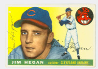Jim Hegan AUTOGRAPH d.84 1955 Topps #7 Indians CARD IS VG, SL BEND