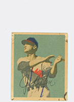 Joe Tipton AUTOGRAPH d.94 1949 Bowman #103 White Sox CARD IS F/G; SL STAINING ON CRNS