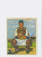 Del Crandall AUTOGRAPH 1950 Bowman #56 Braves CARD IS F-G, NO CREASES LT SOILING