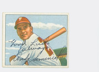 Andy Seminick AUTOGRAPH d.04 1950 Bowman #121 Phillies CARD IS SHARP NMT; SALUT