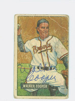 Walker Cooper AUTOGRAPH d.91 1951 Bowman #135 Braves CARD IS POOR  [SKU:CoopW227_BW51BBHC]