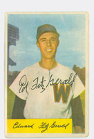 Ed FitzGerald AUTOGRAPH 1954 Bowman #168 Senators CARD IS F/G; HEAVY CRN WEAR
