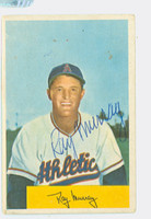 Ray Murray AUTOGRAPH d.03 1954 Bowman #83 Athletics CARD IS G-VG, NO CREASES SIG IS CLEAN