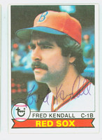 Fred Kendall AUTOGRAPH 1979 Topps #83 Red Sox 