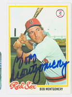 Bob Montgomery AUTOGRAPH 1978 Topps #83 Red Sox 