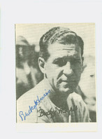 Bucky Harris AUTOGRAPH d.77 TCMA 1972 Pre-War Reprints Senators  BORDER WAS TRIMMED