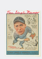 Van Mungo AUTOGRAPH d.85 Pre-War Reprints 1938 Goudey Dodgers 