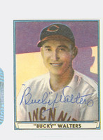 Bucky Walters AUTOGRAPH d.91 Pre-War Reprints 1941 Play Ball Reds 