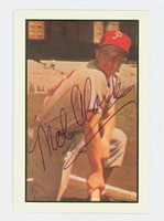 Mel Clark AUTOGRAPH d.14 1953 Bowman Color Reprints Phillies  SIGNED FRONT AND BACK