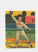 Bill Terry AUTOGRAPH d.89 Dover Reprints 1934 Diamond Stars Giants 