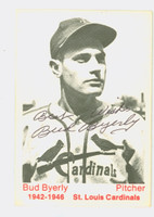 Bud Byerly AUTOGRAPH d.12 TCMA 1942-1946 St. Louis Cardinals SALUT 'BEST WISHES'