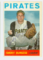 Smoky Burgess AUTOGRAPH d.91 1964 Topps #37 Pirates CARD IS EX