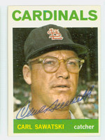 Carl Sawatski AUTOGRAPH d.91 1964 Topps #24 Cardinals CARD IS SHARP EX/MT