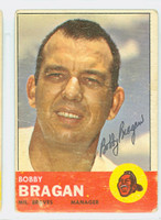 Bobby Bragan AUTOGRAPH d.10 1963 Topps #73 Braves CARD IS F/G