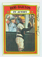 Bob Barton AUTOGRAPH d.18 1972 Topps In Action #40 Padres 