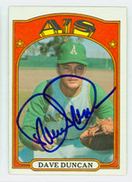 Dave Duncan AUTOGRAPH 1972 Topps #17 Athletics 