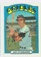 Andy Etchebarren AUTOGRAPH 1972 Topps #26 Orioles 