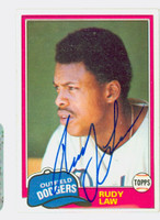 Rudy Law AUTOGRAPH 1981 Topps #127 Dodgers 