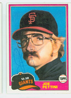 Joe Pettini AUTOGRAPH 1981 Topps #62 Giants 