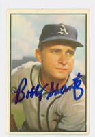 Bobby Shantz AUTOGRAPH 1953 Bowman Color #11 Athletics CARD IS CLEAN VG; CRN DING