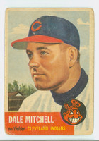 1953 Topps Baseball 26 Dale Mitchell Cleveland Indians Fair to Poor