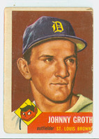 1953 Topps Baseball 36 Johnny Groth St. Louis Cardinals Poor