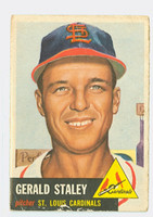 1953 Topps Baseball 56 Gerald Staley St. Louis Cardinals Fair to Poor