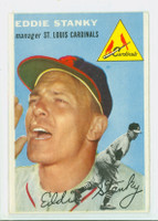 1954 Topps Baseball 38 Eddie Stanky St. Louis Cardinals Very Good to Excellent