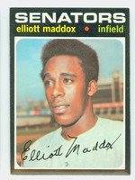 1971 Topps Baseball 11 Elliott Maddox Washington Senators Near-Mint