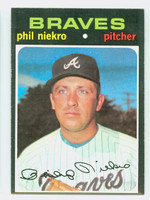 1971 Topps Baseball 30 Phil Niekro Atlanta Braves Near-Mint