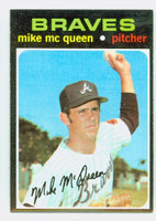 1971 Topps Baseball 8 Mike McQueen Atlanta Braves Near-Mint Plus