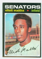 1971 Topps Baseball 11 Elliott Maddox Washington Senators Near-Mint Plus