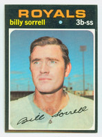 1971 Topps Baseball 17 Billy Sorrell Kansas City Royals Near-Mint Plus