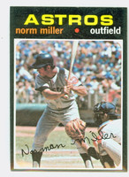 1971 Topps Baseball 18 Norm Miller Houston Astros Near-Mint Plus