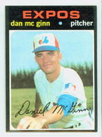 1971 Topps Baseball 21 Dan McGinn Montreal Expos Near-Mint Plus