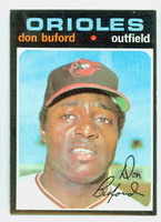 1971 Topps Baseball 29 Don Buford Baltimore Orioles Near-Mint Plus