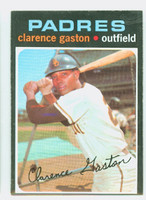 1971 Topps Baseball 25 Clarence Gaston San Diego Padres Excellent to Mint