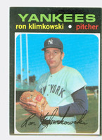 1971 Topps Baseball 28 Ron Klimkowski New York Yankees Excellent to Mint