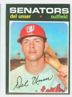 1971 Topps Baseball 33 Del Unser Washington Senators Excellent to Mint