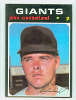 1971 Topps Baseball 108 John Cumberland San Francisco Giants Excellent to Mint