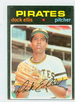 1971 Topps Baseball 2 Dock Ellis Pittsburgh Pirates Excellent to Excellent Plus