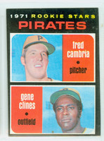 1971 Topps Baseball 27 Pirates Rookies Excellent to Excellent Plus