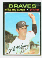 1971 Topps Baseball 8 Mike McQueen Atlanta Braves Near-Mint to Mint