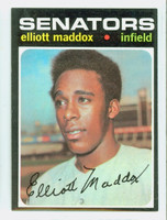 1971 Topps Baseball 11 Elliott Maddox Washington Senators Near-Mint to Mint