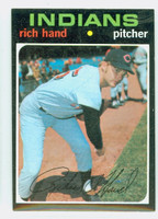 1971 Topps Baseball 24 Rich Hand Cleveland Indians Near-Mint to Mint