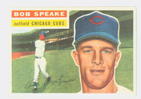 1956 Topps Baseball 66 Bob Speake Chicago Cubs Near-Mint Plus White Back