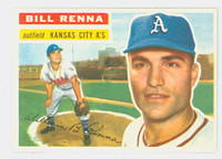 1956 Topps Baseball 82 Bill Renna Kansas City Athletics Near-Mint Plus White Back