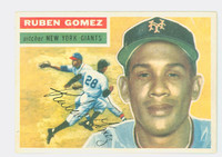 1956 Topps Baseball 9 Ruben Gomez New York Giants Excellent to Mint White Back